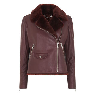 Agnes Faux Fur Bonded, in Burgundy on Whistles