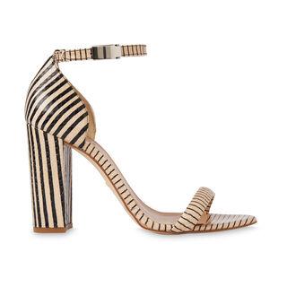 Hyde Stripe Block Heel Sandal, in NUDE on Whistles