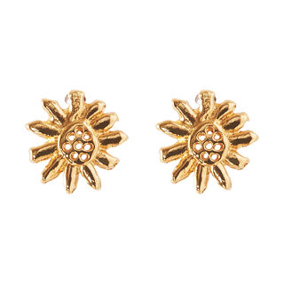 Daisy Stud Earrings, in Gold on Whistles