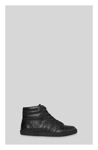 Butler Croc High Top Trainer, in Black on Whistles