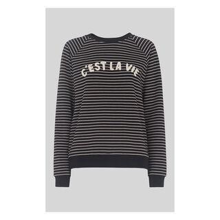 Cest La Vie Sweatshirt, in Navy on Whistles