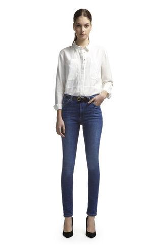 Mid Wash Skinny Jeans, in Dark Denim on Whistles
