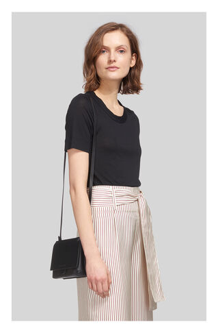 Rosa Double Trim Tshirt, in Black on Whistles
