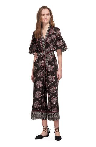 Jaipur Print Silk Jumpsuit, in Brown/Multi on Whistles