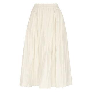 Textured Full Skirt, in Ivory on Whistles