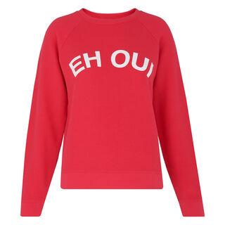 Eh Oui Logo Sweatshirt, in Pink on Whistles