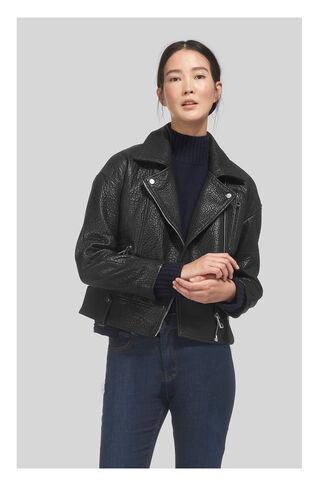 Erica Oversize Bubble Biker, in Black on Whistles