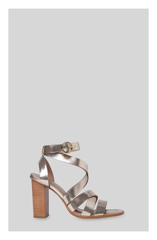 Ivor Crossover High Sandal, in Gold on Whistles