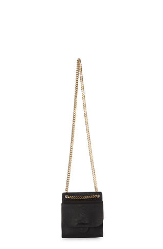 Connie Mini Chain Crossbody, in Black on Whistles