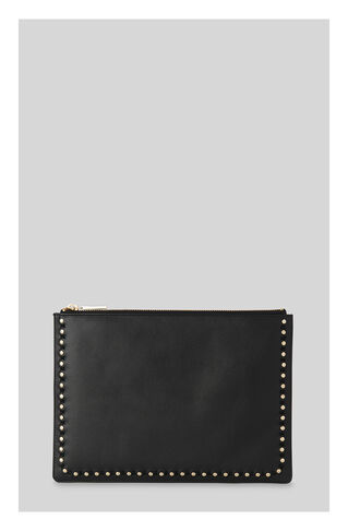 Studded Medium Clutch, in Black on Whistles