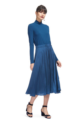 Tami Jersey Mix Dress, in Teal on Whistles