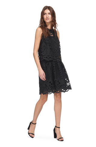 Cutwork Lace Skirt, in Black on Whistles