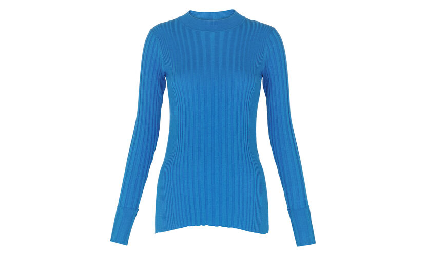 Frey Skinny Rib Knit, in Blue on Whistles