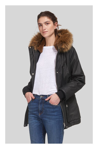 Karlie Waxy Parka, in Black on Whistles
