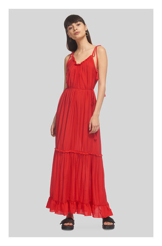 Tassel Tie Maxi, in Red on Whistles