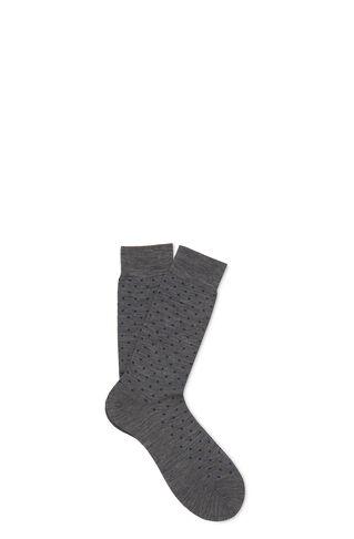 Polka Dot Merino Socks, in Grey/Multi on Whistles