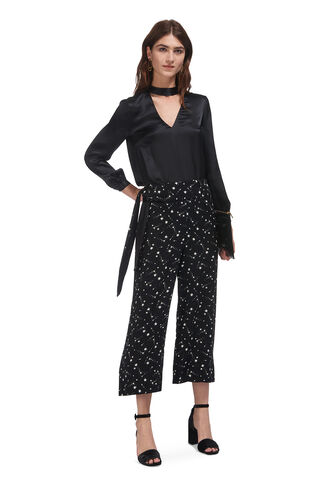 Star Constellation Trouser, in Black and White on Whistles