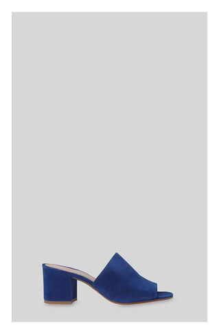 Amberley Mid Block Heel Mule, in Blue on Whistles
