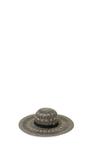 Interest Weave Sun Hat, in Black/Multi on Whistles
