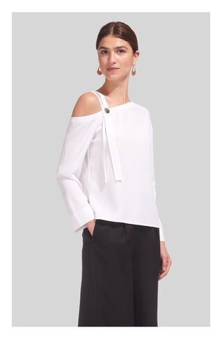 Multi Strap Off Shoulder Top, in White on Whistles