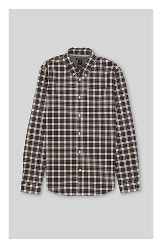 Check Cotton Shirt, in Brown/Multi on Whistles
