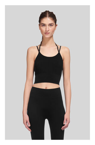 Studio Stretch Crop Top, in Black on Whistles