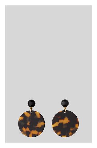 Tort Circle Resin Earring, in Brown/Multi on Whistles