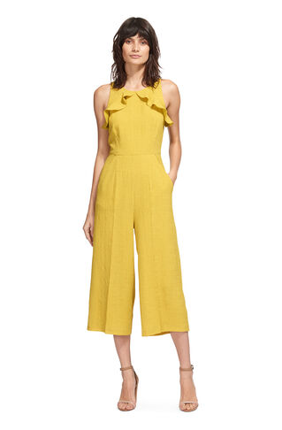 Mae Frill Jumpsuit, in Yellow on Whistles