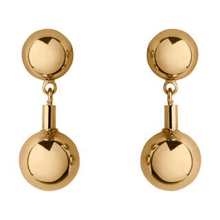 Stacked Sphere Stud Earring, in Gold on Whistles
