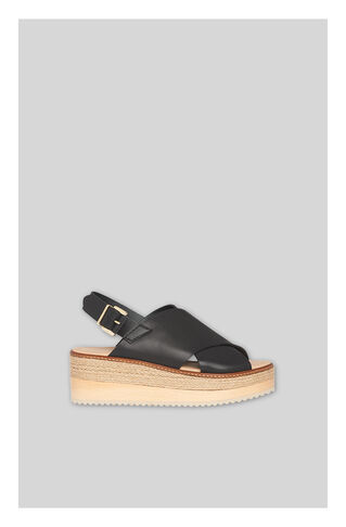 Rafi Flatform Sandal, in Black on Whistles
