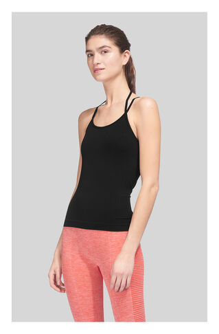 Longline Halter Sports Top, in Black on Whistles