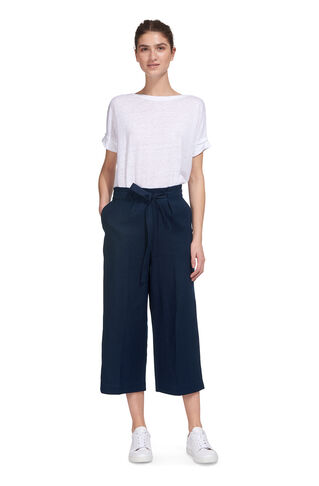 Tie Waist Casual Straight Leg, in Navy on Whistles