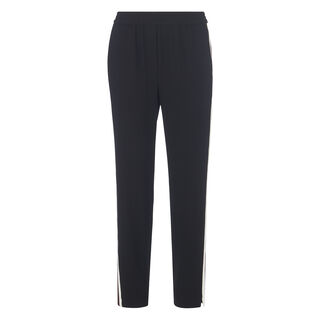 Elyse Side Stripe Trouser, in Black on Whistles