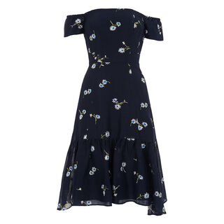 Adalynn Embroidered Dress, in Navy on Whistles