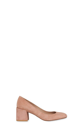 Esther Block Heel Court, in Pale Pink on Whistles