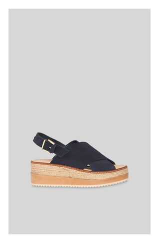 Rafi Flatform Sandal, in Navy on Whistles