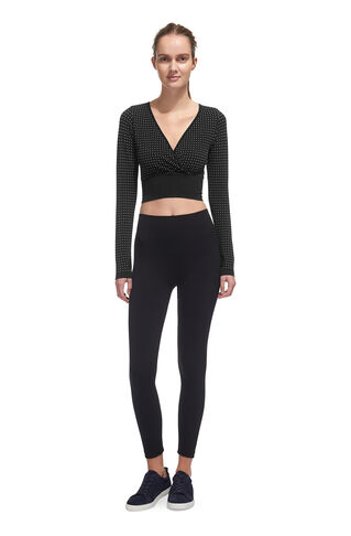 Spot Long Sleeve Top, in Black on Whistles