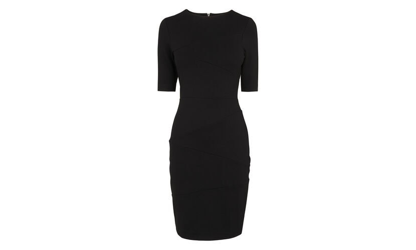 Black Bandage Jersey Dress, in Black on Whistles