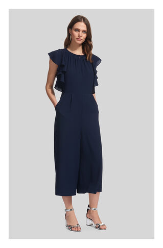 Zyta Frill Jumpsuit, in Navy on Whistles