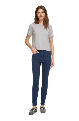 Mid Blue Skinny Jean, in Blue on Whistles