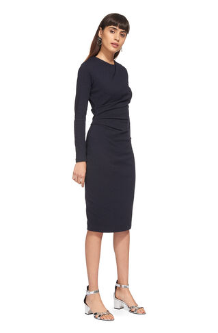Drew Pinstripe Jersey Dress, in Navy on Whistles