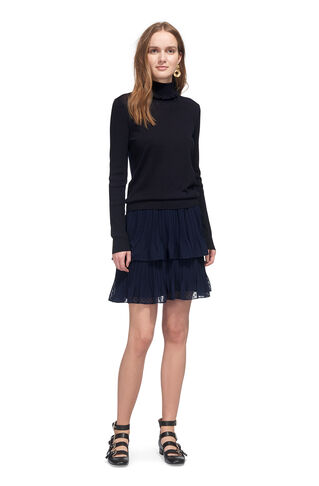 Ellie Dobbie Tiered Skirt, in Navy on Whistles