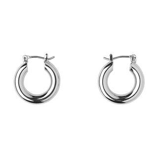Mini Tube Hoop Earring, in Silver on Whistles