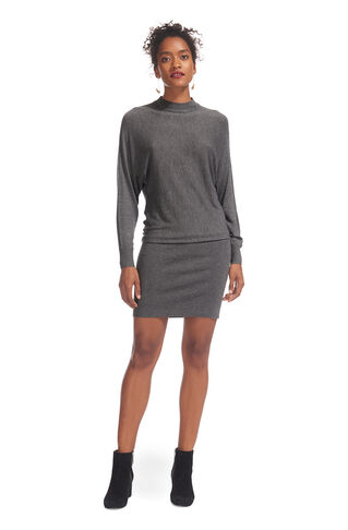 Annie Sparkle Knit Dress, in Grey Marl on Whistles