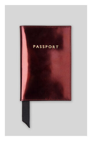 Metallic Passport Holder, in Burgundy on Whistles