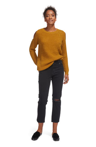 Cold Shoulder Mohair Knit, in Yellow on Whistles