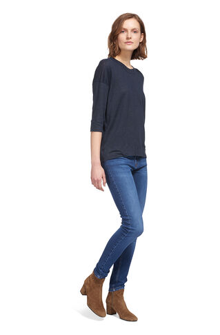Laura Double Trim 3/4 Sleeve, in Navy on Whistles