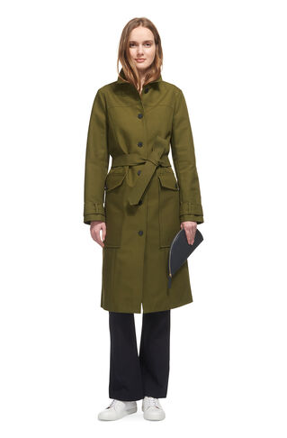 Gia Single Breasted Trench, in Khaki on Whistles