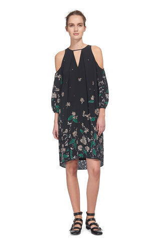 Edison Botanical Print Dress, in Black/Multi on Whistles