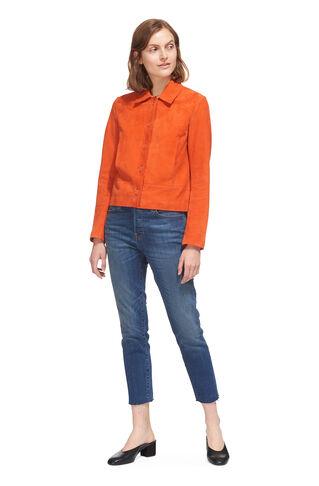 Turner Suede Jacket, in Orange on Whistles